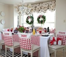 Christmas Chair Covers White How To Make Rocking Cushions With Ties 131 Best Images Crafts Love These Back And Table Runner Red Boot Holiday