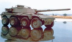 South African Rooikat armoured car fitted with an experimental 105 mm gun. Army Vehicles, Armored Vehicles, Tank Destroyer, Armored Fighting Vehicle, Ww2 Tanks, Tank Design, Battle Tank, Military Weapons, Military Equipment