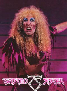 Twisted Sister Promotional Poster https://www.facebook.com/FromTheWaybackMachine