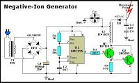 Electrical and Electronics Engineering: Negative-Ion Generator Circuit! Electronics Engineering Projects, Electronic Engineering, Electrical Engineering, Electronic Circuit, Electrical Tools, Electronic Art, Mechanical Engineering, Ac Circuit, Circuit Diagram