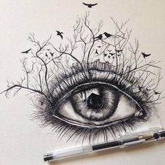 Image via We Heart It https://weheartit.com/entry/166163175/via/10762969 #art #beauty #creative #drawing #eye #eyes #tumblr #fineliner