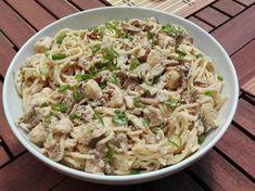 Vargányás-csirkés spagetti Spagetti, Ethnic Recipes, Food, Essen, Meals, Yemek, Eten