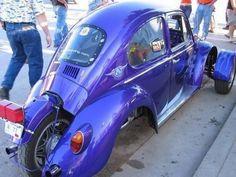 VW bug cut down and using an early Honda Goldwing for power. Vespa, Vw Trike, Trike Motorcycle, Tricycle Bike, Reverse Trike, Custom Trikes, Custom Cars, Weird Cars, Cool Cars