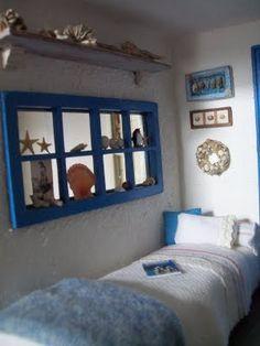 Peilin karmit voisi maalata sinineksi kuten tässä..