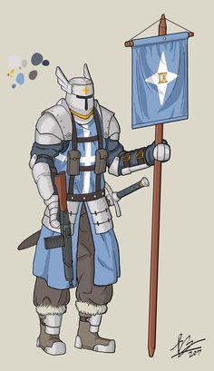 [OC] Dieselpunk White Knight