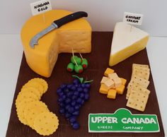 A cheese board cake to celebrate this small cheese company in Niagara.