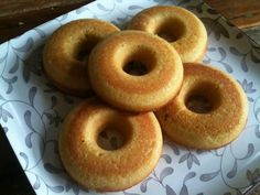 """Coconut Flour Cake Donuts - low carb yummy - To get that """"real"""" donut taste and texture, throw them in the deep fryer after baking! OMG!"""