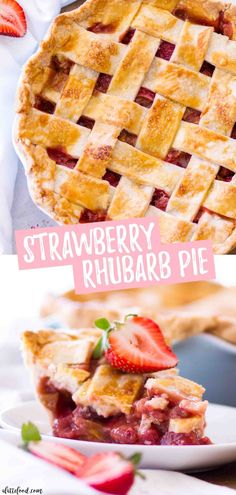 easy strawberry rhubarb pie recipe is made with a homemade pie crust (an all butter pie crust) and the filling is made with fresh strawberries and rhubarb. This old fashioned strawberry rhubarb pie is a southern classic and makes the best summer dessert! Summer Dessert Recipes, Easy Desserts, Delicious Desserts, Best Summer Desserts, Breakfast Recipes, Easy Strawberry Rhubarb Pie, Strawberry Recipes, Best Rhubarb Recipes, Rhubarb Rhubarb