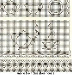 All Vintage: Sunbonnet Sue patterns, Chicken Scratch embroidery patterns, Crochet & Knitting patterns, Embroidery patterns, Quilt patterns Vintage Cookbooks & Recipes Filet Crochet, Crochet Motifs, Crochet Chart, Embroidery Sampler, Cross Stitch Embroidery, Embroidery Patterns, Cross Stitching, Quilt Patterns, Chicken Scratch Patterns
