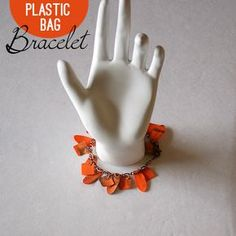 Make an #upcycled plastic bag bracelet @savedbyloves #recycledcrafts @Johnnie (Saved By Love Creations) Lanier