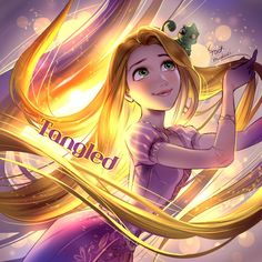Tangled by foomidori - Rapunzel Disney Rapunzel, Disney Pixar, Disney Princess Art, Tangled Rapunzel, Princesa Disney, Best Disney Movies, Disney And Dreamworks, Disney Characters, Punk Disney