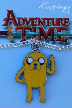 Adventure Time Jake silver necklace