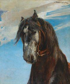 Jacek MALCZEWSKI (1854-1929), Głowa konia Painter Artist, Painters, Auction, Horses, Artists, Animals, Animales, Animaux, Animal