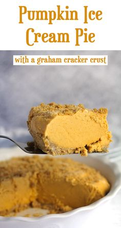 My Pumpkin Ice Cream Pie is an amazing fall dessert, combining ice cream with pumpkin, brown sugar, and fall spices - over a graham cracker crust. | suebeehomemaker.com | #pumpkindessert #pumpkinpie #icecream #icecreampie #falldessert Lemon Ice Cream, Ice Cream Pies, Ice Cream Flavors, Ice Cream Recipes, Fall Desserts, Frozen Desserts, Just Desserts, Delicious Desserts, Pumpkin Ice Cream