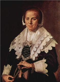 Portrait of a Woman with a Fan  - Frans Hals