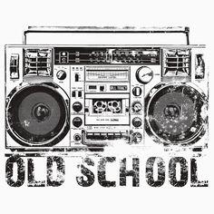 Old School Boombox Art