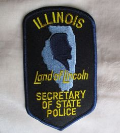 """Illinois Secretary of State Police Patch - 3 1/8"""" x 5 1/4"""" - Land of Lincoln"""