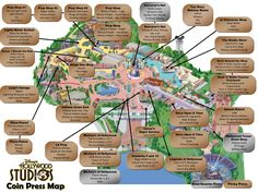 Pressed Penny Machines Located in Disney\'s Hollywood Studios MAP ...