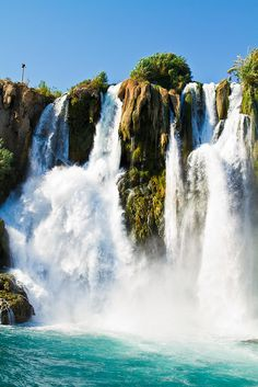 Duden waterfalls . Antalya Turkey