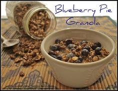 Blueberry Pie Granola...really tasty, no refined sugar!