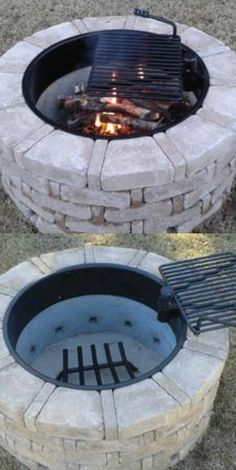 5 Fascinating Useful Ideas: Fire Pit Ring Back Yard square fire pit backyard.Square Fire Pit Backyard fire pit cover how to build. Fire Pit Cooking, Fire Pit Grill, Diy Fire Pit, Fire Pit Backyard, Fire Pit To Cook On, Cheap Fire Pit, How To Build A Fire Pit, Fire Pit Seating, Backyard Seating