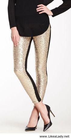 53c7702ecbc7b Glitter leggings Fashion Beauty, Love Fashion, Fashion Outfits, Womens  Fashion, How To