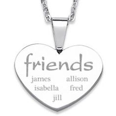 Everscribe Stainless Steel #Friends Necklace