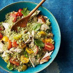 Quinoa-Basil Tabbouleh #recipe