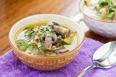 Mushroom Barley Soup with Fresh herbs