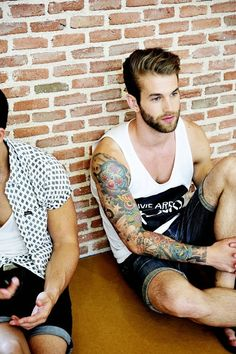Sexy Guys In Tats Using A Toy
