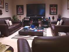Man Cave?...I would actually love to have this as my living room. .