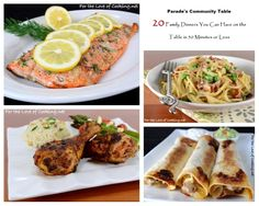 Parade's Community Table ~ 20 Family Dinners You Can Have on the Table in 30 Minutes or Less
