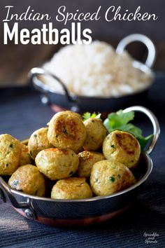 These Indian Spiced Chicken Meatballs are sure to be a hit with the whole family!!! Tender, succulent and packed with wonderful spices. This is the deliciousness of curry in easy to eat meatball form.