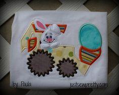 Easter Bunny Loader Applique