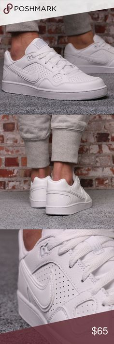 f42e7e3d4c5 Nike SON OF FORCE Men s Leather Shoe - All White Inspired by the classic  look of