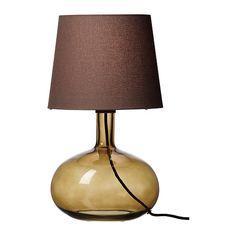 LJUSÅS UVÅS Lampada da tavolo - marrone - IKEA