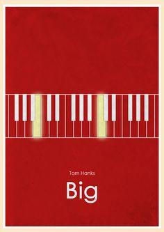 Big (1988) - Minimal Movie Poster by Jon Glanville #minimalmovieposters #alternativemovieposters #jonglanville
