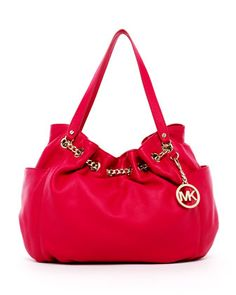 MICHAEL Michael Kors  Jet Set Chain Ring Tote in Lacquered Pink