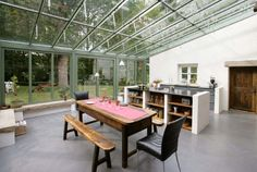 Chiswick Kitchen With Glass Roof and Doors