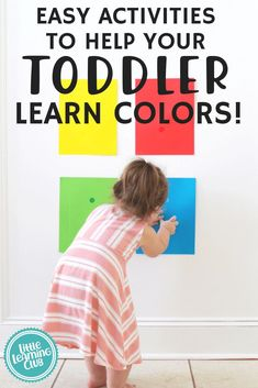 Fun Activities to Help Your Toddler Learn Colors! Educational color matching activities that are easy to make at home.