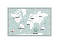 Treasure Map by Jessie Steury for Minted