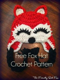 40+ Crochet Animal Hat with Patterns ---Crochet Fox Hat Free Pattern