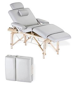 Don't let the portability fool you - this Earthlite Calistoga Portable Salon Table is built to last! Easily foldable and completely compact, this portably massage table allows you to take comfort with you no matter where you go! Massage Table, Massage Room, Spa Massage, Massage Therapy, Massage Chair, Home Spa Room, Spa Rooms, Treatment Rooms, Spa Treatments