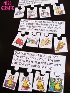Short A Activities and Resources (including freebies!) Short vowels reading fluency and sequencing puzzles that make reading fun and incorporates so many phonics skills! Short A Activities, Sequencing Activities, Classroom Activities, Classroom Ideas, Story Sequencing, Sequencing Pictures, Pirate Activities, Music Classroom, Reading Intervention