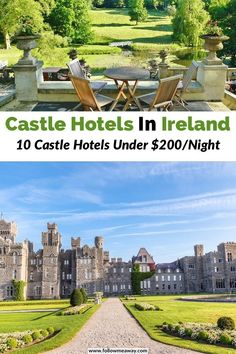 Discover 10 best castle hotels in Ireland that offer luxury, hisotry, and gorgoeus settings! These are some of the best castle hotels in Ireland that bring Castle Hotels In Ireland, Castles In Ireland, Germany Castles, Ashford Castle Ireland, Ireland Vacation, Ireland Travel, Chateau Hotels In France, Monte Carlo, Stay In A Castle