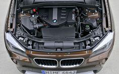 2015 BMW X1 Engine HD Background
