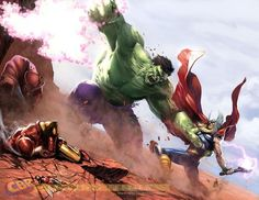 Battling Avengers