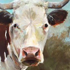 Cow Painting Laurie Lou   Paper Print of an Original Acrylic