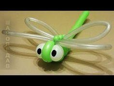 """""""СТРЕКОЗА"""" ИЗ ВОЗДУШНЫХ ШАРОВ./Dragonfly from of balloons.Твистинг"""