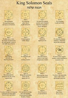 The 44 King Solomon Seals from Israel KIng Solomon Seals Alchemy, Witchcraft, Magick, wicca. Alchemy Symbols, Magic Symbols, Ancient Symbols, Viking Symbols, Egyptian Symbols, Viking Runes, Demon Symbols, Witchcraft Symbols, Angelic Symbols